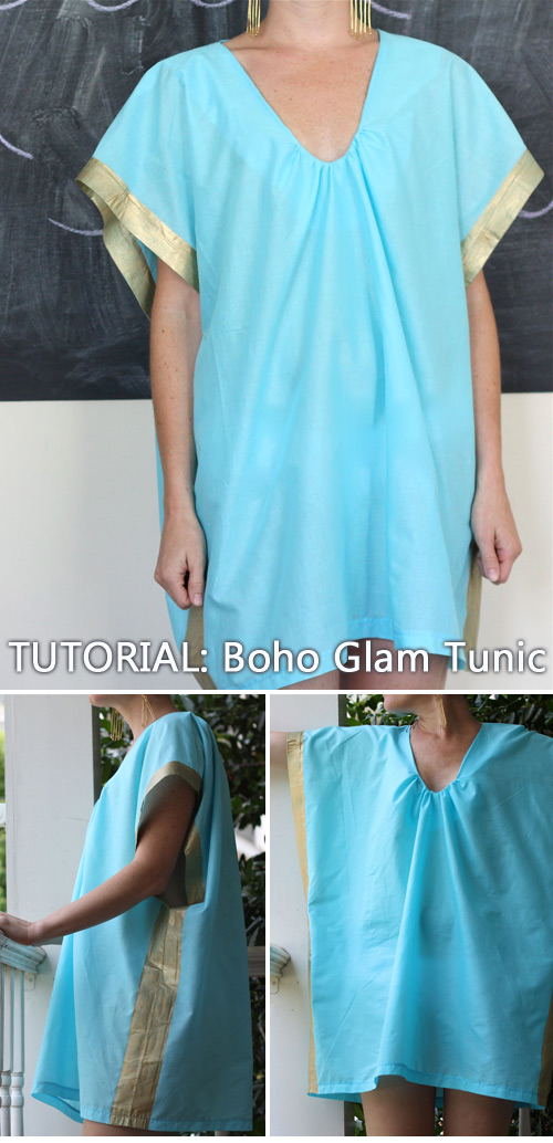 Sewing Tutorial: Boho Glam Tunic / How to sew a tunic