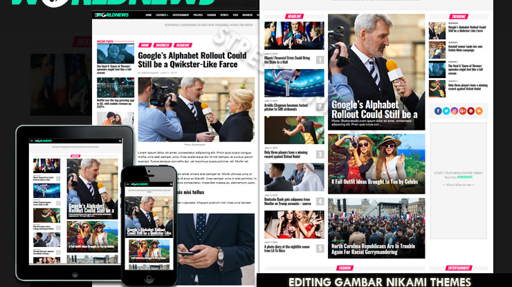 Templates World News Magazine - Responsive Blogger Template