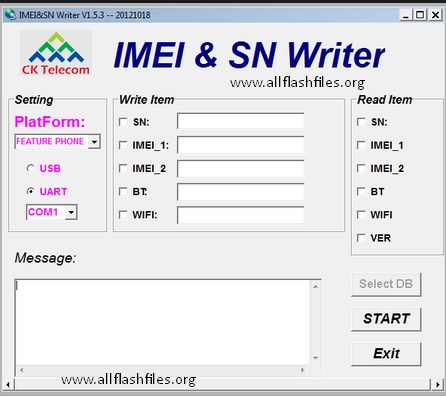 IMEI & SN Writer v1.5.3 Download