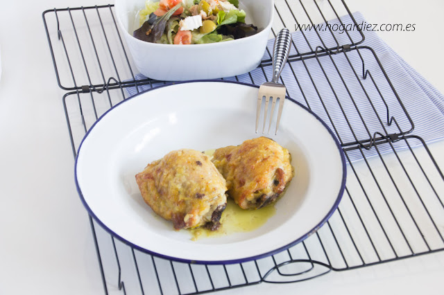 Receta de pollo al horno en salsa