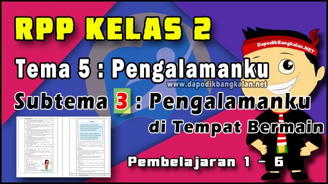 RPP Kelas 2 Tema 5 Subtema 3 Pembelajaran 1 - 6 K13 Revisi 2019
