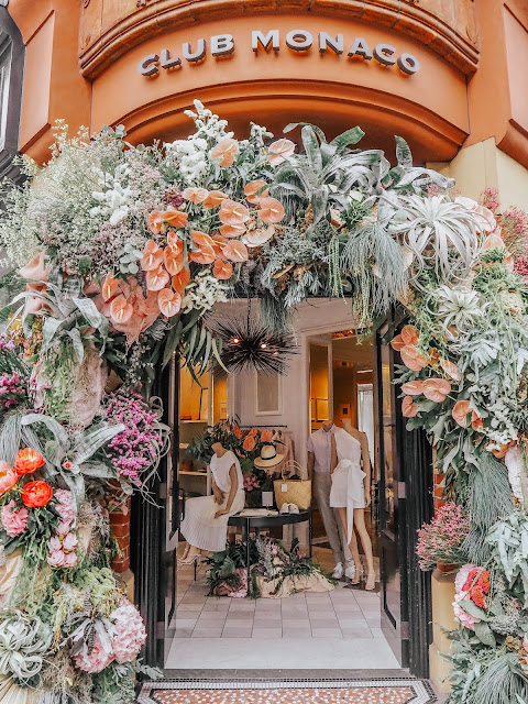Chelsea in Bloom 2019 Club Monaco Floral Display