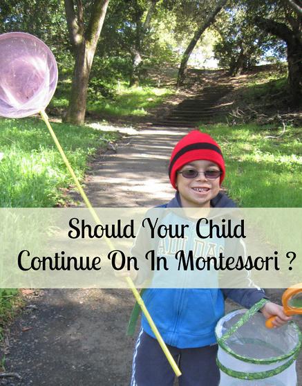 Should Your Child Continue On In Montessori
