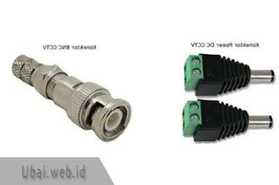 konektor cctv power dc dan bnc