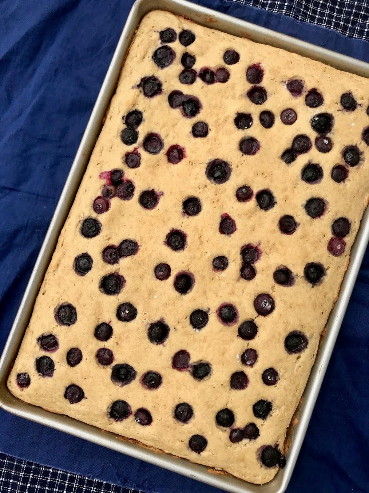 Whole Wheat Blueberry Baked Pancake Squares