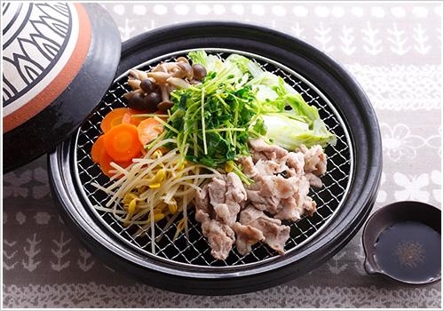 豚肉とたっぷり野菜の蒸し鍋