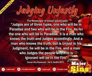 MAJOR SIN. 31. Judging Unjustly