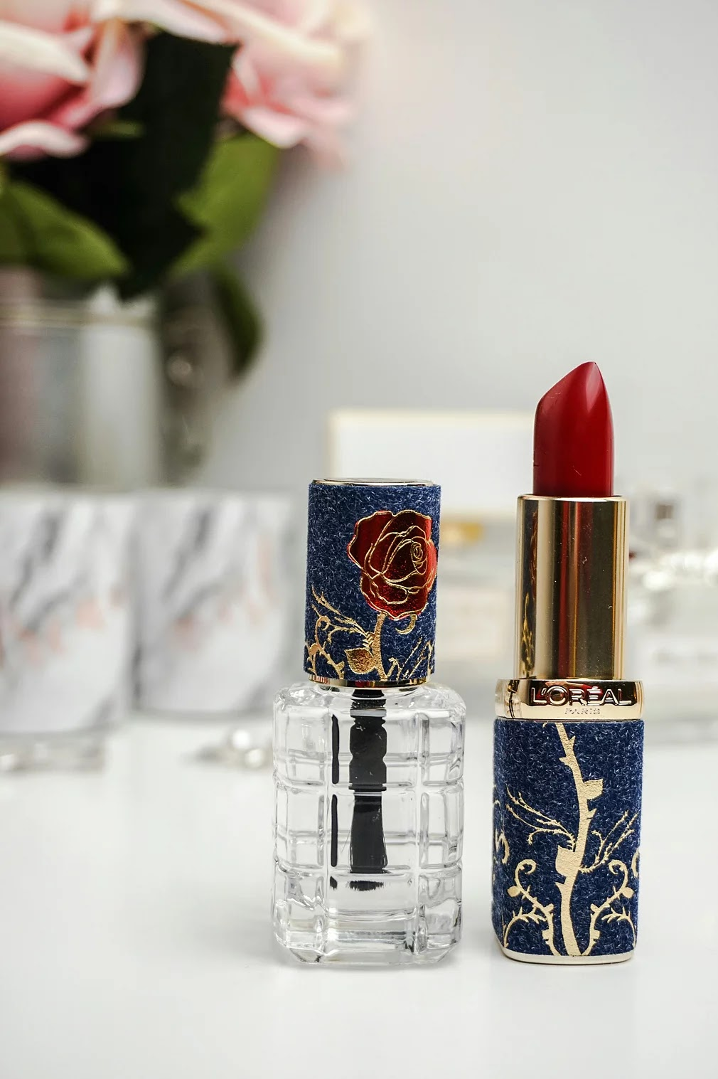 L'oreal Paris x beauty and the beast the rose collection