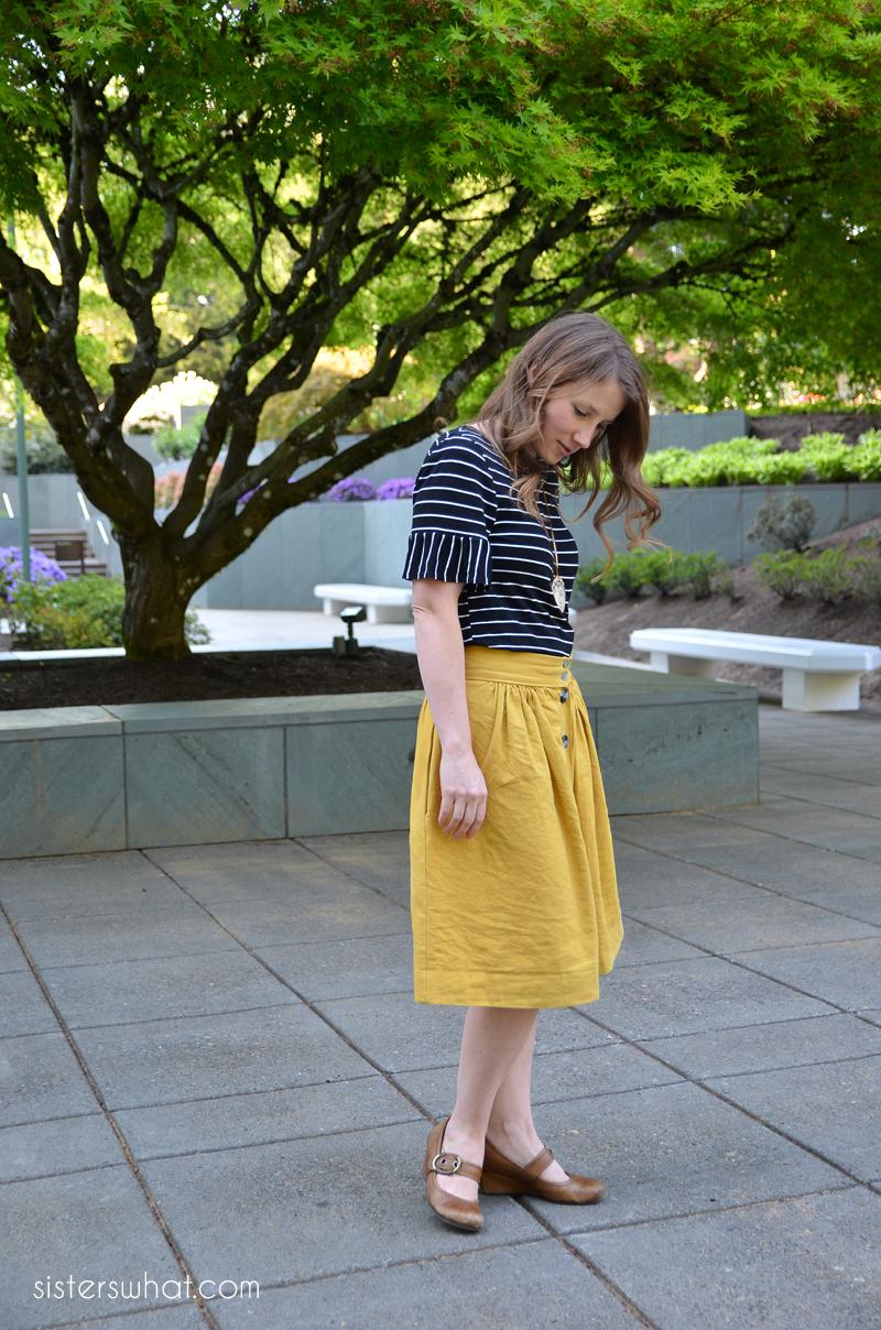 easy diy gathered anywhere skirt