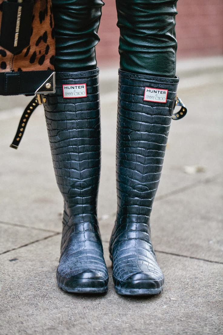 These Boots Were Made For Strutting: FASHION INSPIRATION DAILY: These (rubber) Boots Are Made