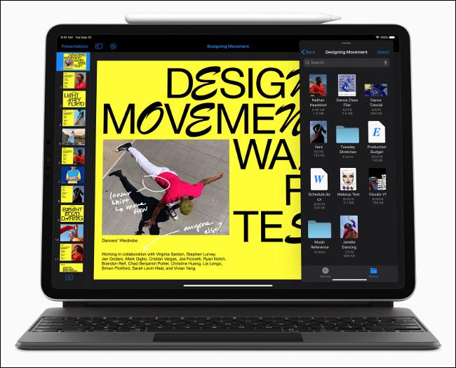 يعمل iPadOS 13 على iPad Pro.