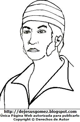 Imagen de José Olaya para colorear pintar imprimir. Dibujo de José Olaya de Jesus Gómez