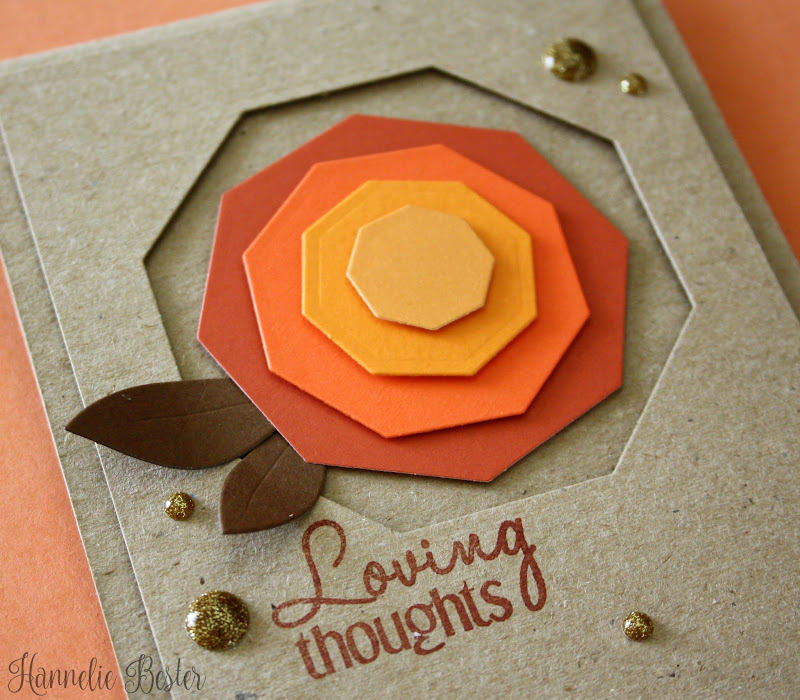 autumn geometric rose card