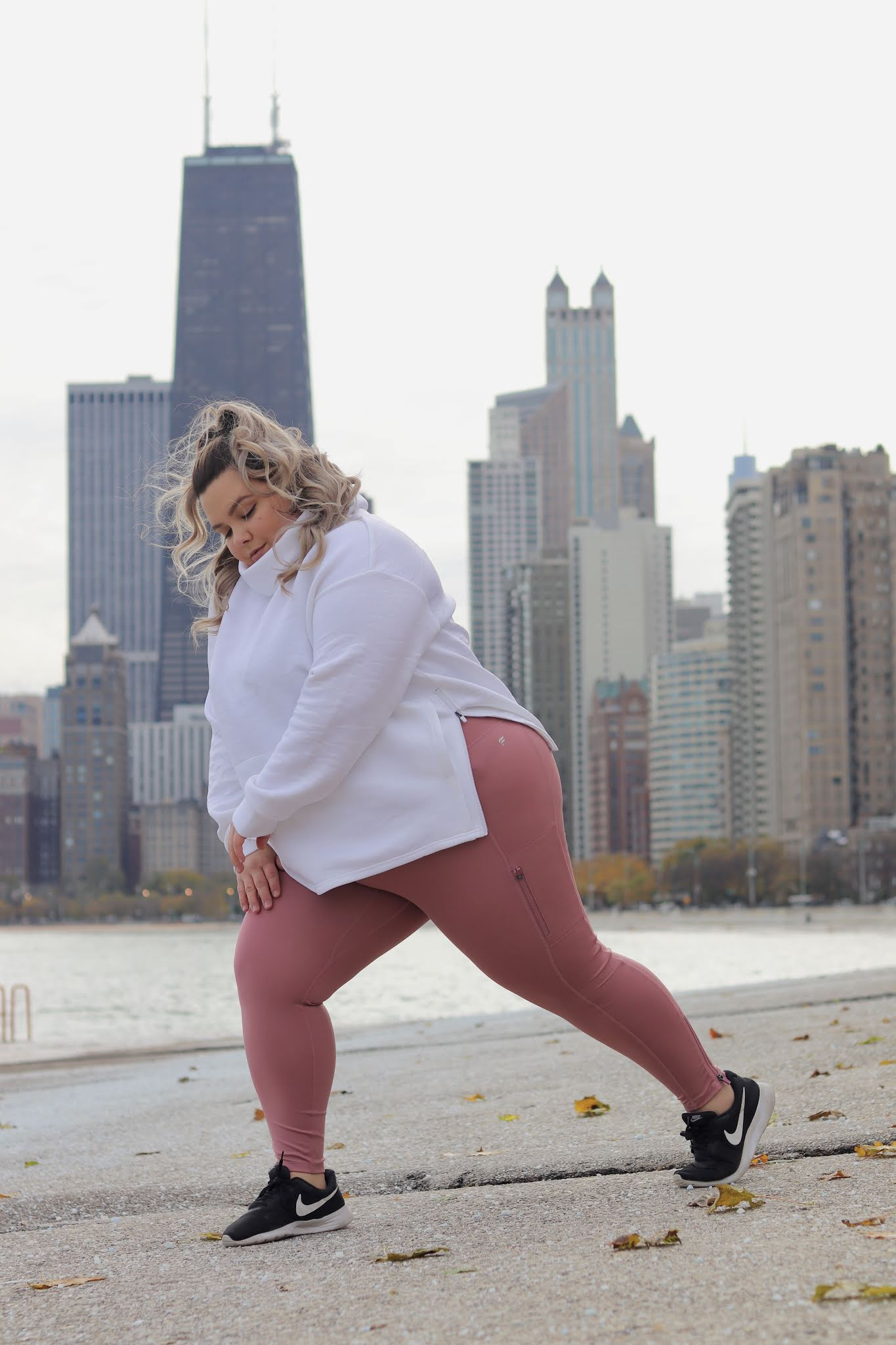 Chicago Plus Size Petite Fashion Blogger influencer and model Natalie Craig Natalie in the City Fabletics promo code 2020