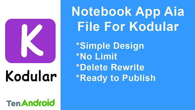 Notebook app AIA file free for Kodular
