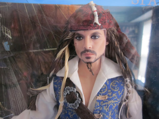 "Pat' Chat Potc 12"" Captain Jack Sparrow Doll"
