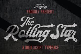 The Rollingstar Stylish BoldScript Font