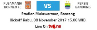 Prediksi Borneo FC vs Persib Bandung - Rabu 8 November 2017