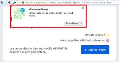 Solusi addons tamper data tidak dapat di pasang ~ NEWBIESEC