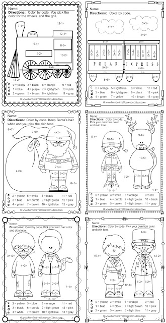 https://www.teacherspayteachers.com/Product/Christmas-Math-2435191