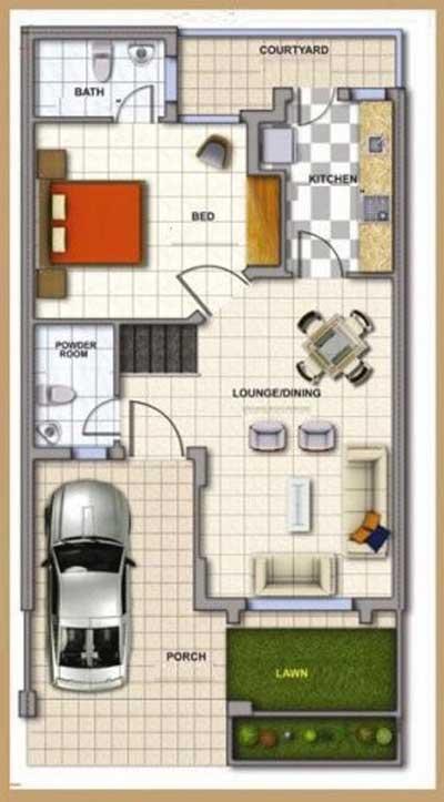 gambar denah rumah minimalis 1 lantai 3 kamar tidur dan garasi