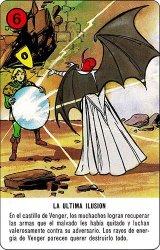 Baraja Dragones y mazmorras Heraclio Fournier Carta rojo 6