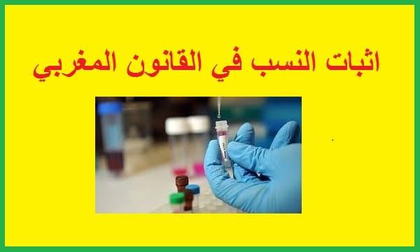 اثبات النسب في مدونة الاسرة المغربية pdf