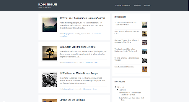 Blogku - Responsive Blogger Template