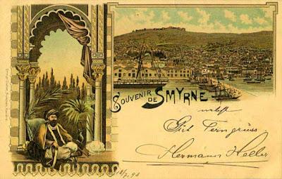 Αναμνηστική καρτ ποστάλ από την παλιά Σμύρνη