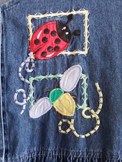 Summer Cotton Denim Dress with Application