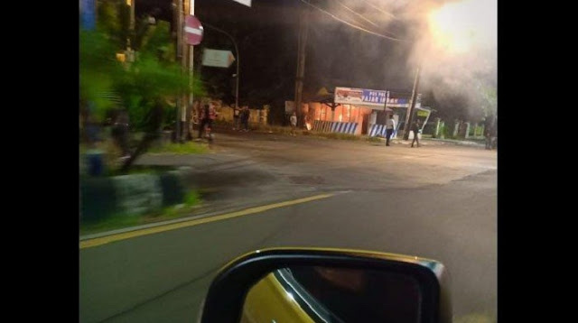 Jumat Dinihari, Pos Polisi Dekat Rumah Jokowi di Solo Terbakar