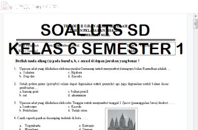 Download Kumpulan Soal Uts Matematika Kelas 6 Semester 1 Dan Kunci