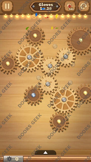 Fix it: Gear Puzzle [Gloves] Level 28 Solution, Cheats, Walkthrough for Android, iPhone, iPad and iPod