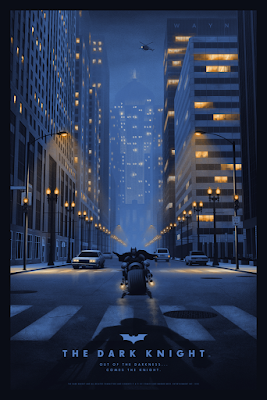 The Dark Knight Screen Print by Nicholas Moegly x Bottleneck Gallery x Vice Press