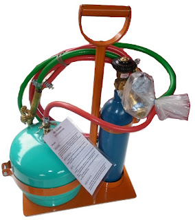Equipo soldadura oxigas garrafa 2 kg tubo 1/4 m3 Oxigeno refrigeracion