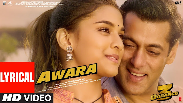 Awara Lyrics Hindi | Dabangg 3