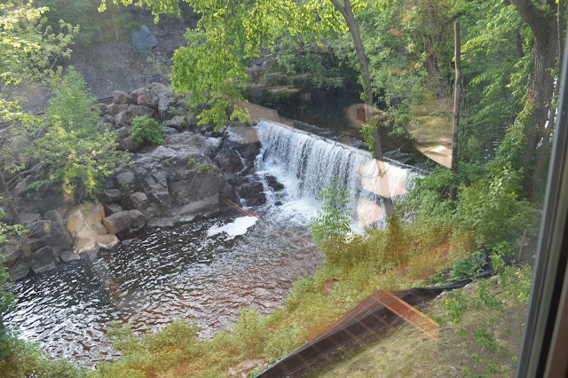 Norwalk River Waterfall from Mediterraneo in Norwalk