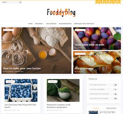 Fooddy - Template Blogspot