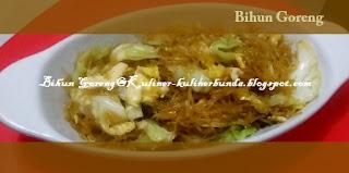 Bihun merupakan materi makanan hasil olahan dari tepung beras atau tepung terigu Resep Bihun Goreng yang Praktis dan Enak