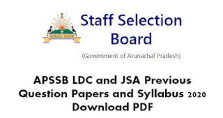 APSSB LDC and JSA Previous Question Papers and Syllabus 2020 Download PDF