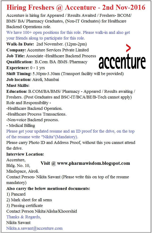 How To Submit Resume In Accenture - Umfosoft