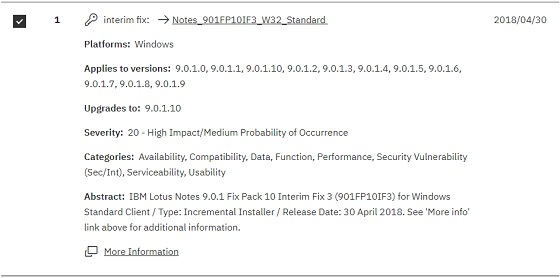 Ibm Notes Domino 9 0 1 Feature Pack 10 Interim Fix 3 Available For