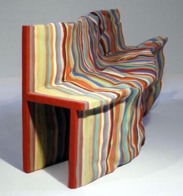 Diseño de sillón únicocolorido