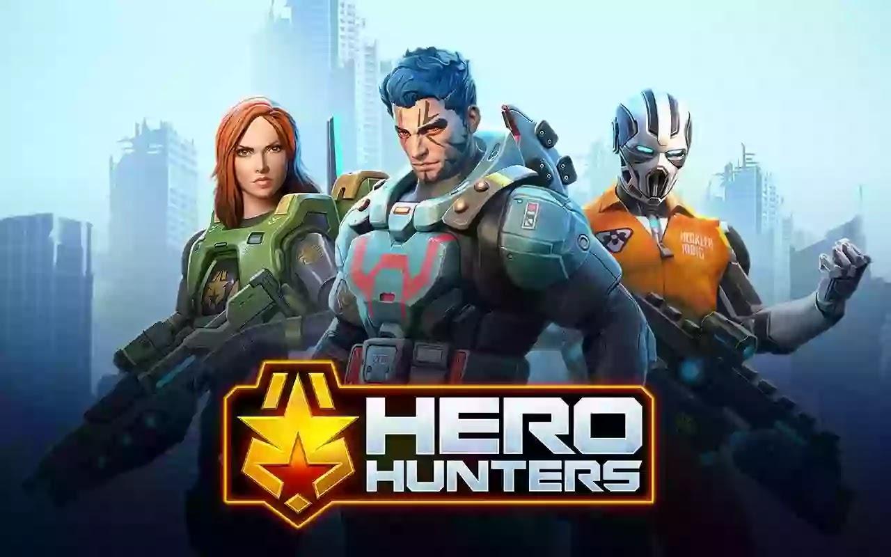 Hero Hunters كوِّن فريقًا قويًا يضم أكثر من 50 بطلًا! رقم 1 في ألعاب التصويب من منظور الشخص الثالث.  أكثر المعارك المجانية على الإنترنت.