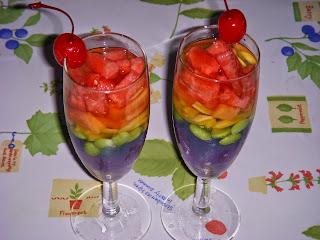 resep es buah pelangi