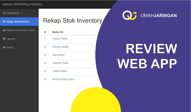 Review Aplikasi Inventory Barang Berbasis Web Php, MySQL dan Codeigniter