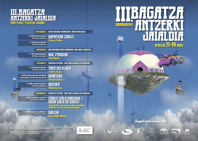 Cartel del festival de teatro de Bagatza