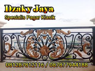 Model Balkon Besi Tempa Klasik proyek Manado