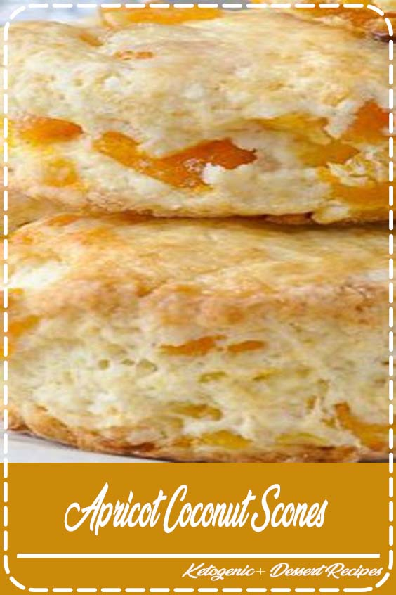 tender scones with great coconut flavour and sweet chunks of apricot baked right in Apricot Coconut Scones