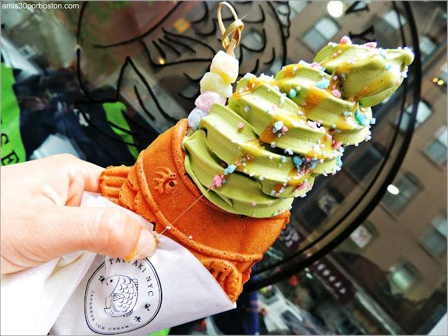 Taiyaki de Matcha en su Local Original de Nueva York